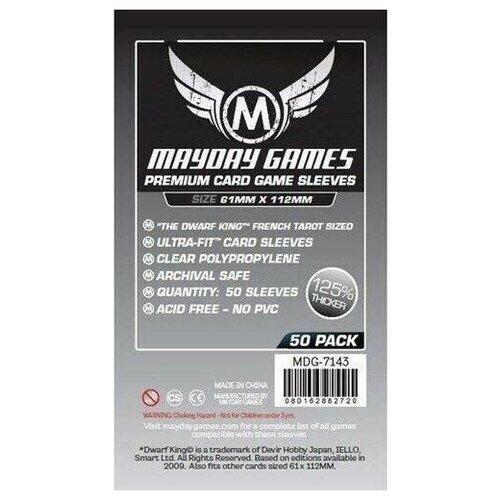Протекторы MayDay Games Mayday (размер 61х112 мм) 50 шт. премиум: прозрачные