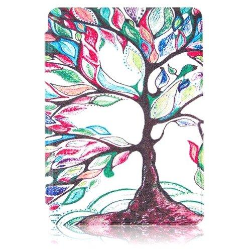 Чехол-обложка футляр MyPads для Amazon Kindle 5/ Amazon Kindle 4 Wi-Fi тонкий с магнитной застежкой необычный с красивым рисунком тематика Сказочное Дерево