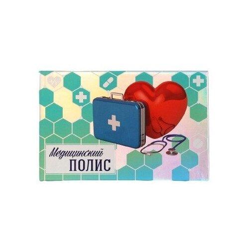 Медицинский полис «Семейный», 11,3 х 17,5 см (цвет голубой)