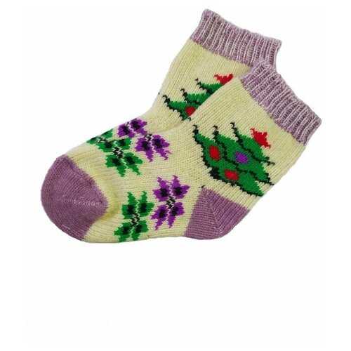 Носки шерстяные Бабушкины носки N6R164-1разноцветный_23-25
