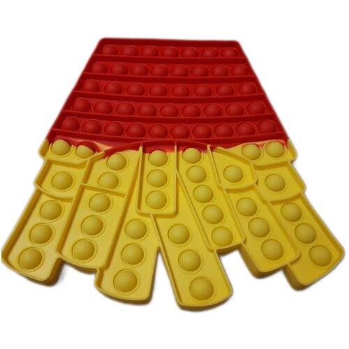 Купить POP IT Огромный Картошка фри / Вечная пупырка антистресс большой размер 25-21 см./ Поп ит / Пупырка / Сенсорная игрушка антистресс / Огромный Картошка фри / Развивающие игрушки для малышей / Push Pop Bubble / Антистресс огромный, Smart toys, Игрушки-антистресс