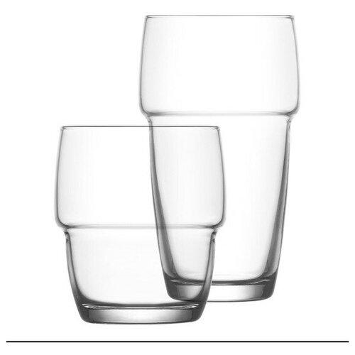 Набор из 6-ти стаканов серия Galata  стекло, Lav, Турция