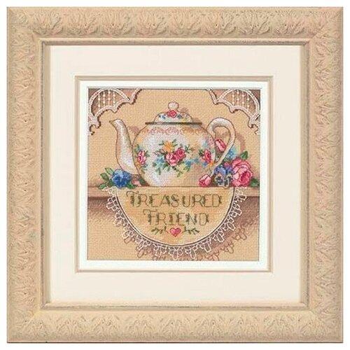 Набор для вышивания DIMENSIONS 06904 Кружевной чайничек 15 x 15 см dimensions набор для вышивания мать 15 х 15 см 06709