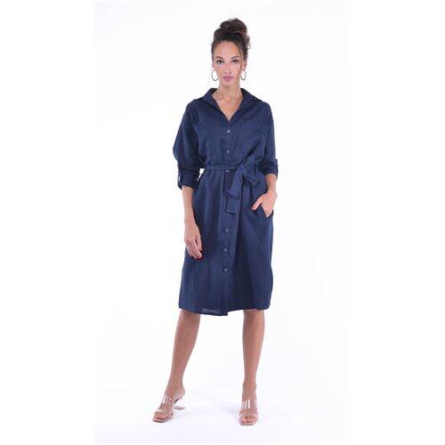 Фото - Женское платье из натурального льна Gabriela 5366-7 р.46 платье ichi 20109482 женское цвет фиолетовый 15518 winetasting однотонный р р 46 m