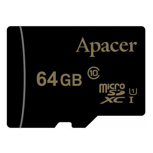 Фото - Карта памяти microSDXC Apacer 64 ГБ Class 10 UHS-I U1 карта памяти microsdxc apacer 64 гб class 10 uhs i u1