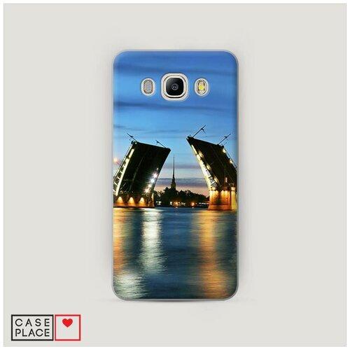 Чехол Пластиковый Samsung Galaxy J7 2016 Разведенные мосты в СПб 2