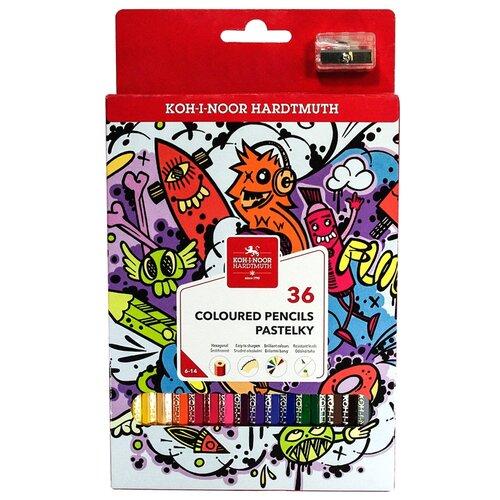 KOH-I-NOOR Карандаши цветные Teenage, 36 цветов (3555036042KSRU)