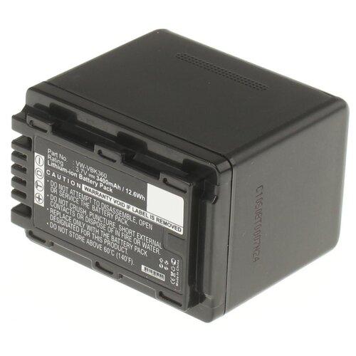Фото - Аккумуляторная батарея iBatt 3400mAh для Panasonic VW-VBK360E-K аккумулятор ibatt ib b1 f457 3400mah для panasonic vw vbt190 vw vbt380 vw vby100 vw vbt380e k