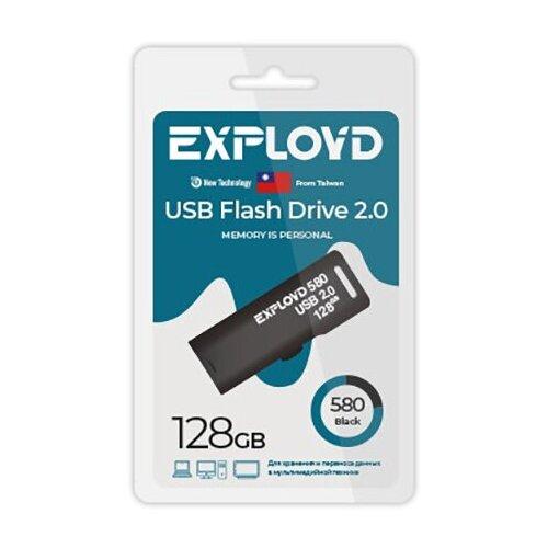 USB Flash Drive 128Gb - Exployd 580 EX-128GB-580-Black usb flash drive 16gb exployd 580 ex 16gb 580 black