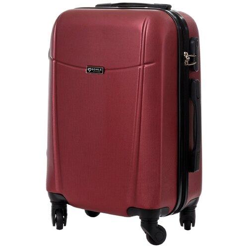 чехол на чемодан 18316 s 55 см Чемодан Bonle, премиум ABS-пластик, Винный, размер S, 55 см, 37 л