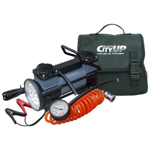 Автомобильный компрессор CityUP AC-619 Double Piston Station, 60л/мин с фонарём. Двухпоршневой