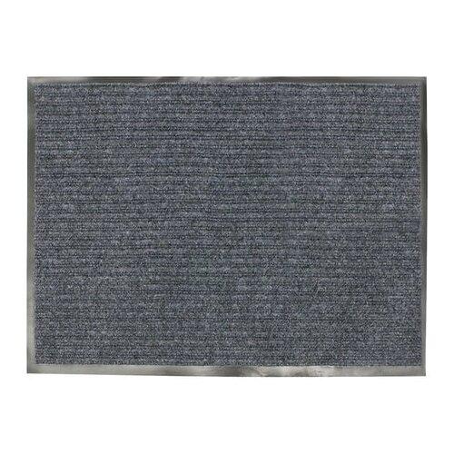 Коврик входной ворсовый влаго-грязезащитный, 90х120 см, толщина 7 мм, серый, VORTEX коврик грязезащитный резиновый лапша vortex черно серый полосы 22408 40х60 см