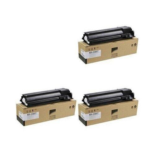 Sharp MX-238GT 3 Pack (MX238GT-3PK) Картриджи комплектом MX238GT черный 3 упаковки [выгода 3%] Black 25К для AR-6020DVE AR-6020, AR-6020NVE, AR-6020VE, AR-6023D AR-6023, AR-7024DEU AR-7024, AR-7024EU