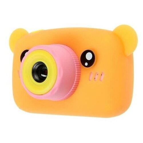 Фото - Детский цифровой фотоаппарат Мишка Оранжевый / Kids Camera детский цифровой фотоаппарат собачка розовый kids camera pink