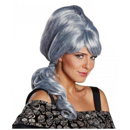 Купить Серый парик с хвостиком (10017), RUBIE'S