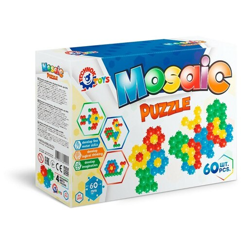 Мозаика пазлы для малышей 60 элементов коврик пчёлка технок / мозаика для детей / картины из мозаики / пиксельная мозаика / пазлы для детей / пазлы для малышей / пазл для малышей / пазлы для детей 5 лет / коврик п