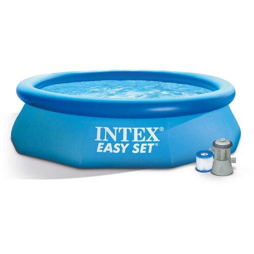 Фото - Надувной бассейн INTEX Easy Set 305х305х61см 3077л, фил.-насос 1250л/ч (28-118) бассейн intex intex easy set 244х61 см 1942 л фил насос 1250 л ч