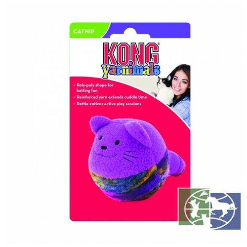 KONG игрушка для кошек Кот-клубок, с мятой, цвета в ассортименте CYN4E