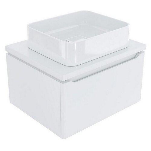 Тумба д/ванной ВИКТОРИЯ-60 Софт белый под ум.Джой-46/ум.Триумф-56/Ringo-53 (ПВХ)