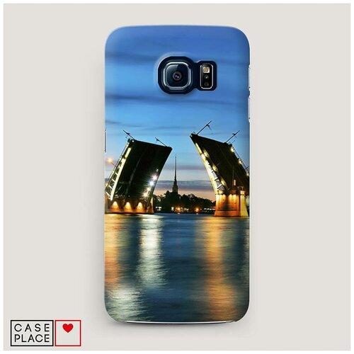 Чехол Пластиковый Samsung Galaxy S7 Разведенные мосты в СПб 2