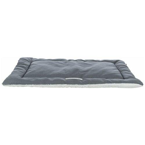 Лежак-подстилка Farello, плюш / ткань, 90 х 65 см, бело-серый / серый, Trixie (37236)