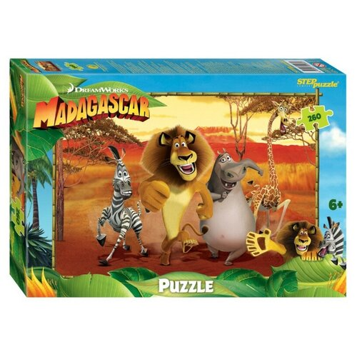 Пазл 260 эл. Мадагаскар - 3 (DreamWorks, Мульти) арт.95095 2 шт. пазл 260 эл санторо little song
