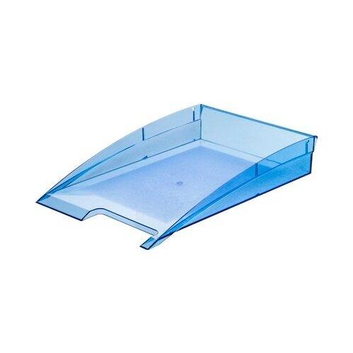 Купить Лоток для бумаг горизонтальный Attache City прозрачный синий 2 шт., Лотки для бумаги