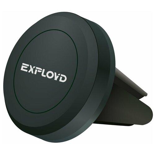 Автомобильный держатель магнитный в воздуховод Exployd Mini EX-H-401 Black / держатель в автомобиль / автодержатель / автодержалка / держалка в авто / держатель для авто / держатель для телефона / автомобильное крепление для телефона / держатель в машину / держатель для смартфона / универсальный держатель / автодержатель в машину