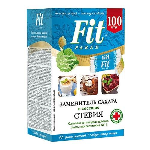 Fit Parad сахарозаменитель №14 стевия, саше порошок 50 г 1 шт. 100 шт.