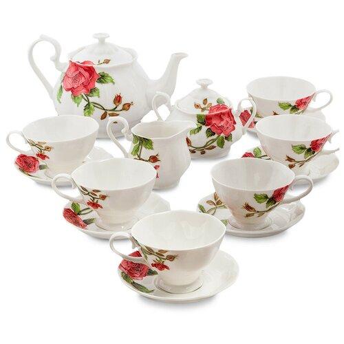Фото - JS-07 Чайный сервиз на 6 персон Роза Рафаэлло (Pavone) букет рафаэлло