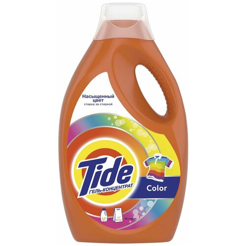 Средство для стирки жидкое автомат 2,47 л TIDE (Тайд) Color, гель средство для стирки tide color 2 47л 81685430 гель для стирки