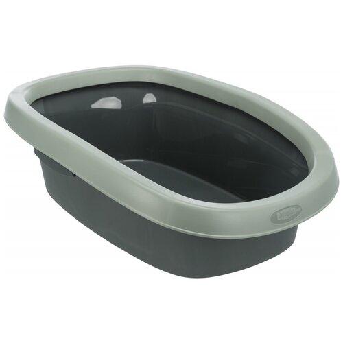 Туалет-лоток для кошек TRIXIE Carlo 43х31х14 см антрацит/серор-зеленый 1 шт. туалет лоток для кошек homecat 3519509 3519547 3519486 3519561 37х27х8 см зеленый 1 шт
