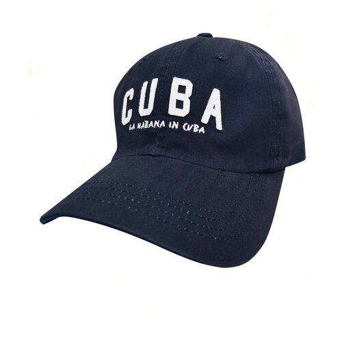 Фото - Бейсболка универсальная Be Snazzy CZD-0027 с нашивкой Cuba. Цвет темно-синий. Размер 54-56 бейсболка be snazzy m 1 czd 0046 размер 56 60 темно синий