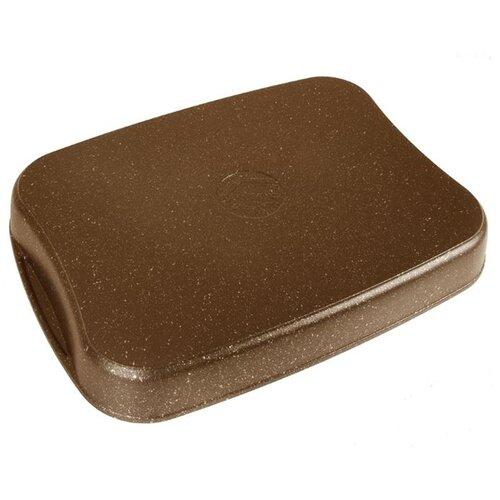 Противень KUKMARA Кофейный мрамор литой 40х29,5х5 см
