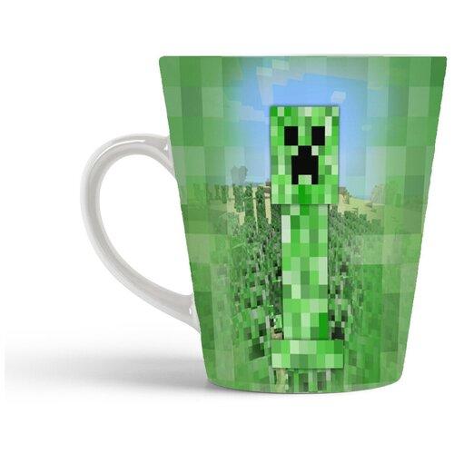 Кружка-латте CoolPodarok minecraft creeper