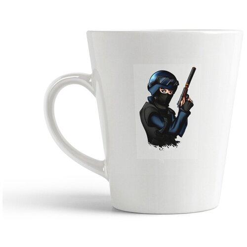 Кружка-латте CoolPodarok Контра Кс Кс Го 1 6 Соурс Counter Strike Cs Cs Go Cs 1 6 Source (спецназ рисунок)