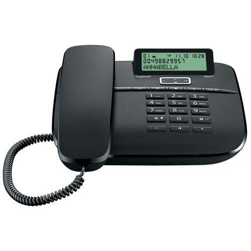 Телефон проводной Gigaset DA611, черный