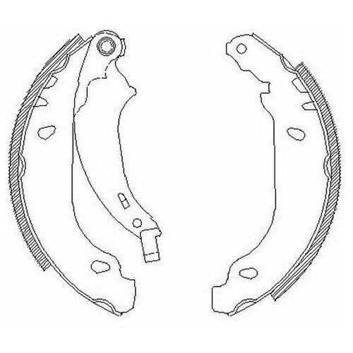Комплект тормозных колодок Roadhouse 4076.00 для Peugeot 206