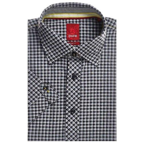 Рубашка pure размер M серый/белый