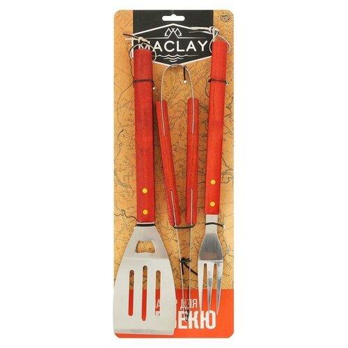 Набор для барбекю: лопатка, щипцы, вилка, 45 см