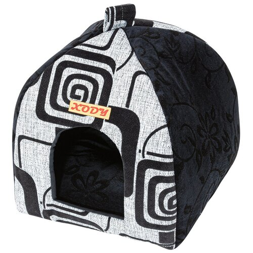 Фото - Домик для собак и кошек Xody Виг-Вам Рогожка № 1 флок серый 33 х 33 х 42 см (1 шт) домик для собак и кошек xody эстрада джинс 1 хлопок 41 х 36 х 30 см 1 шт