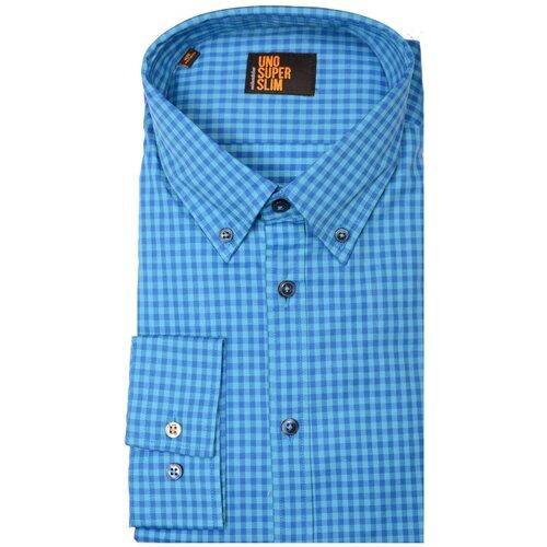 Рубашка Seidensticker размер 41 голубой/синий