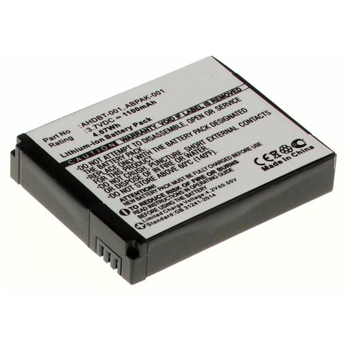 Фото - Аккумулятор iBatt iB-B1-F423 1100mAh для GoPro AHDBT-001, AHDBT-002, аккумулятор ibatt ib u1 f428 1180mah для gopro hd hero3 hd hero3