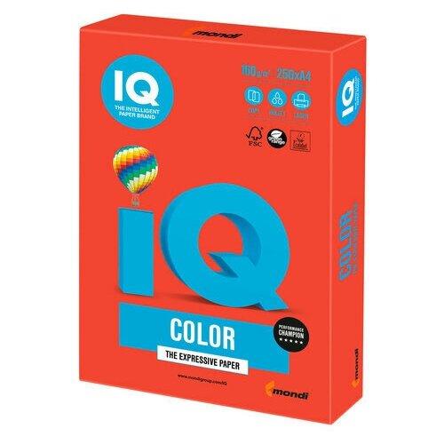 Фото - Бумага цветная IQ color, А4, 160 г/м2, 250 л., интенсив, кораллово-красная, CO44 бумага цветная iq color а4 160 г м2 100 л 5 цветов x 20 листов микс интенсив rb02