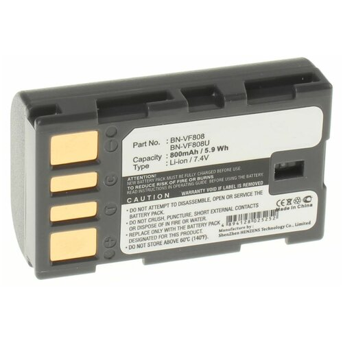 Аккумуляторная батарея iBatt 800mAh для JVC GZ-HM200NER, для Jvc GR-D771, GR-D790, GZ-MG120, GZ-MG255AC, GZ-MG555, GZ-MG630AU