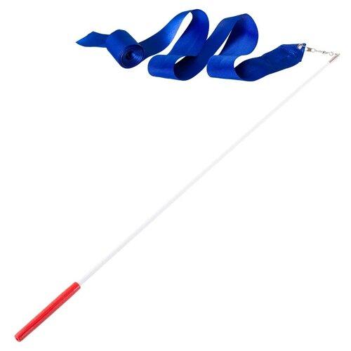 Фото - Палочка с лентой для художественной гимнастики Amely AGR-201 4м синий палочка с лентой для художественной гимнастики larsen ab220 синий