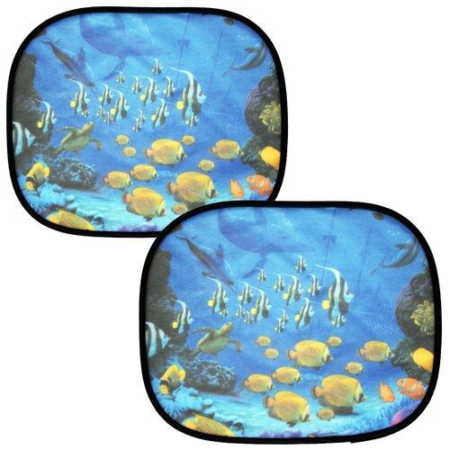 Шторки солнцезащитные на боковые стекла 44х36 см. Nova Bright шторки автомобильные / сетка на боковые стёкла 2 шт. 44269