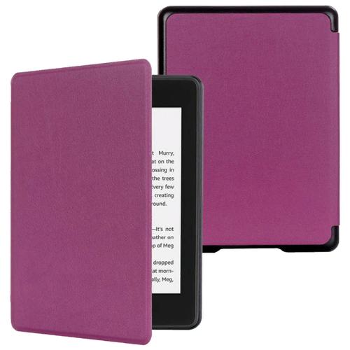 Чехол-обложка MyPads для Amazon Kindle PaperWhite 2018 из качественной эко-кожи с функцией включения-выключения и возможностью быстрого снятия фиолетовый