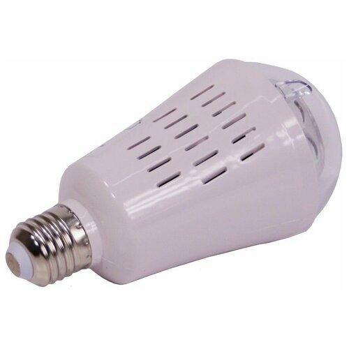 Светодинамическая лампа танец снежинок, 4 холодных белых LED-огня, проекция 36 м2, 7.5x14.5 см, цоколь Е27, для дома, Kaemingk