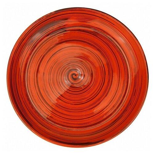 Борисовская керамика Тарелка для нарезки 043159/042159/038159, 26 см оранжевый